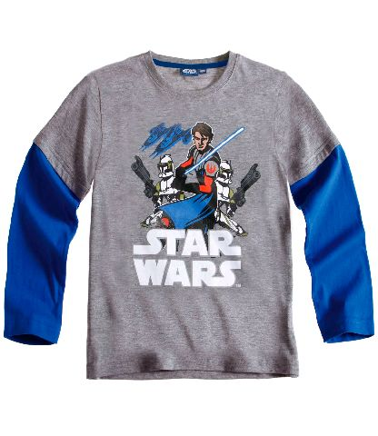 star wars the clone wars la shirt longsleeve gr 104 140. Black Bedroom Furniture Sets. Home Design Ideas